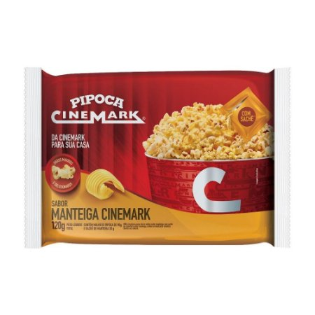 Pipoca Cine Mark Manteiga (com Sachê de Manteiga) 120g