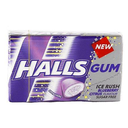 Halls Gum Ice Blueberry 18g