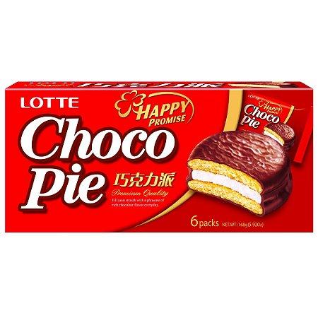 Lotte Chocopie Alfajor com Marshmallow 6 un 168g