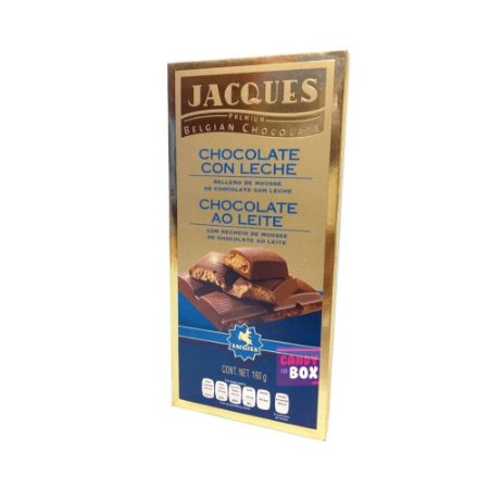 Jacques Chocolate Belgian - Ao Leite c/ Recheio Mousse
