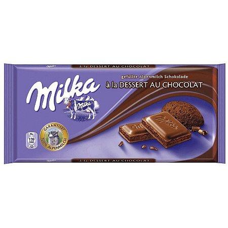 Chocolate ao Leite Milka com recheio de mousse 100g