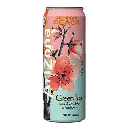 Chá Arizona Green Tea With Ginseng & Peach Juice 680ml