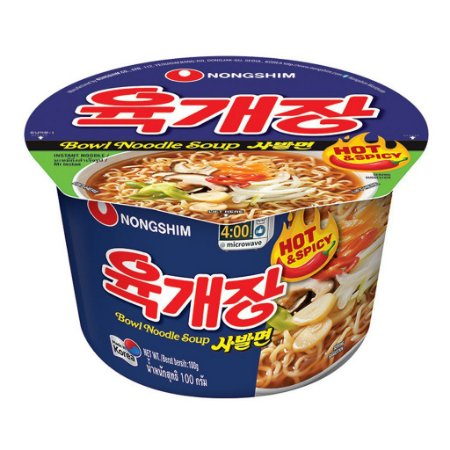 Nongshim Bowl Noodle Hot Spicy 100g