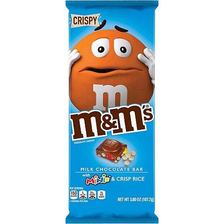 M&M's Milk Chocolate Bar with minis and Crisp Rice 110.6g