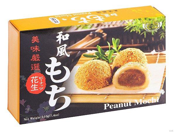 Mochi (bolinho de arroz) com pasta de amendoim