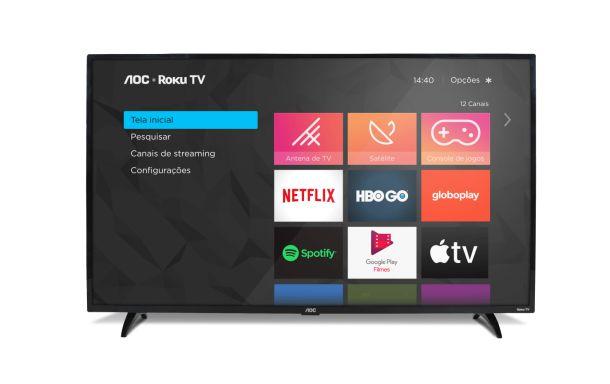 """ROKU TV SMART TV LED 43"""" FULL HD AOC 43S5195/78G"""