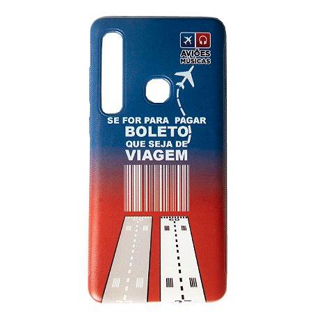 Capa para Smartphone Viagem - Bicolor Motorola - Aviões e Músicas