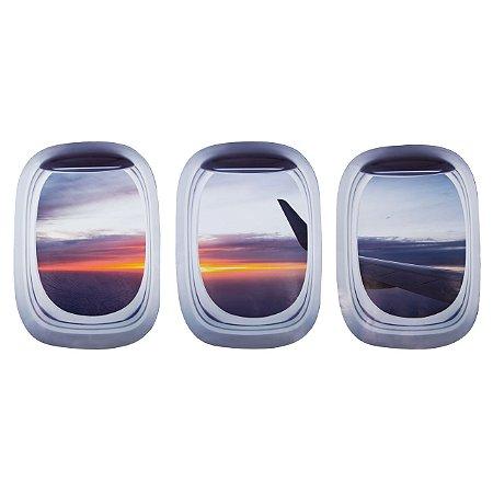Kit de Adesivos Janela de avião 4 - Aviões e Músicas
