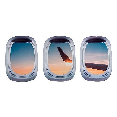 Kit de Adesivos Janela de avião 3 - Aviões e Músicas