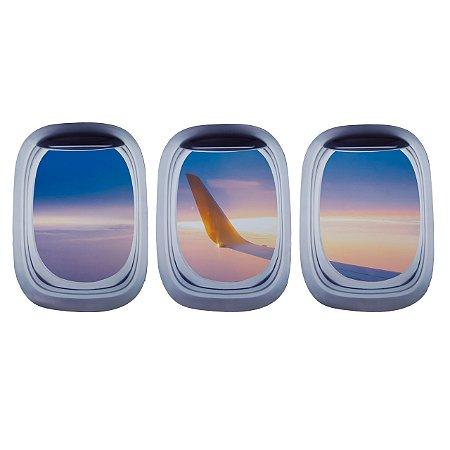 Kit de Adesivos Janela de avião 2 - Aviões e Músicas
