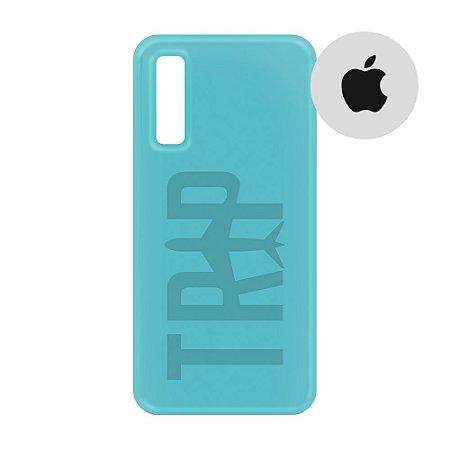 Capa para Smartphone Trip Turquesa - Apple - Aviões e Músicas