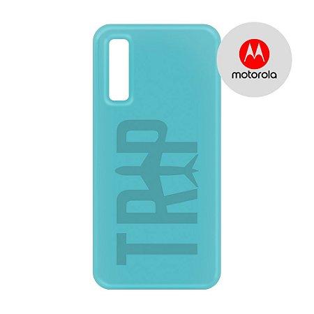 Capa para Smartphone Trip Turquesa - Motorola - Aviões e Músicas