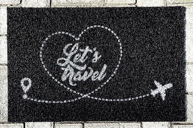 Tapete Let's Travel - Aviões e Músicas