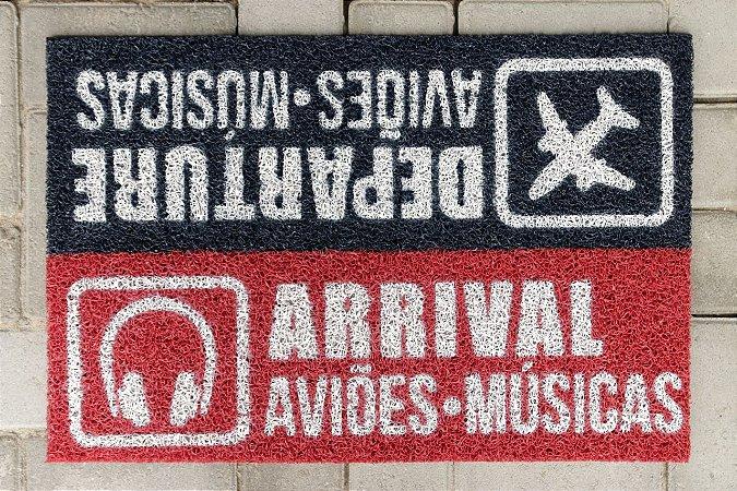 Tapete Arrival Departure Aviões e Músicas