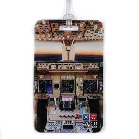 Tag de Mala Cabine em Voo Aviões e Músicas