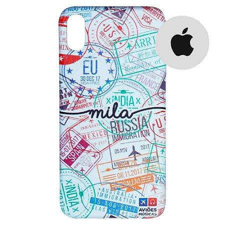 Capa para Smartphone Passaporte Carimbado 2 Personalizável - Apple - Aviões e Músicas