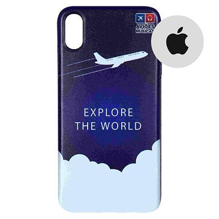 Capa para Smartphone Explore The World - Apple - Aviões e Músicas