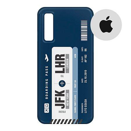 Capa para Smartphone Boarding Pass Personalizável Azul - Apple - Aviões e Músicas