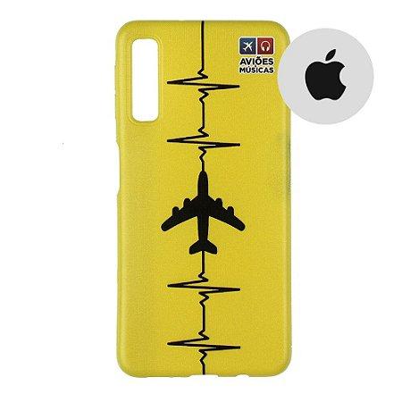 Capa para Smartphone Yellow - Apple - Aviões e Músicas