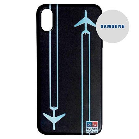 Capa para Smartphone Contrail - Samsung - Aviões e Músicas