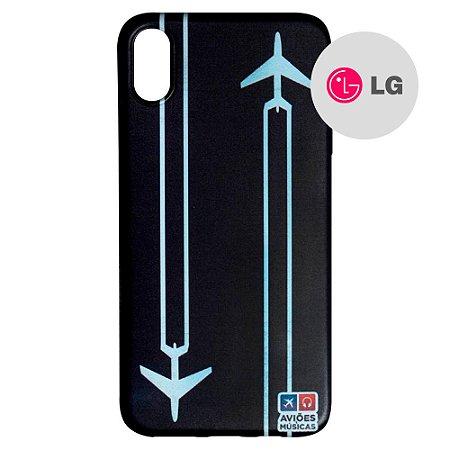 Capa para Smartphone Contrail - LG Aviões e Músicas