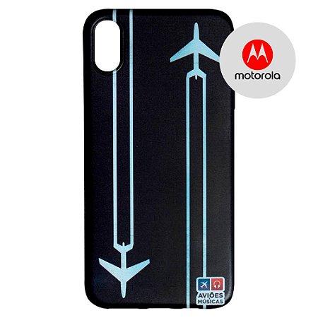 Capa para Smartphone Contrail - Motorola - Aviões e Músicas