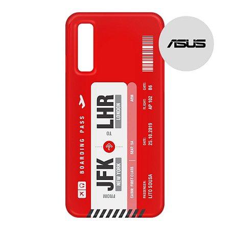 Capa para Smartphone Boarding Pass Personalizável Vermelha - Asus