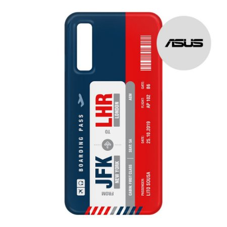 Capa para Smartphone Boarding Pass Personalizável Multicolor - Asus