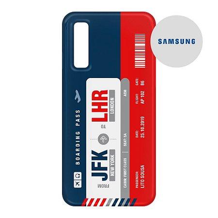 Capa para Smartphone Boarding Pass Personalizável Multicolor - Samsumg - Aviões e Músicas