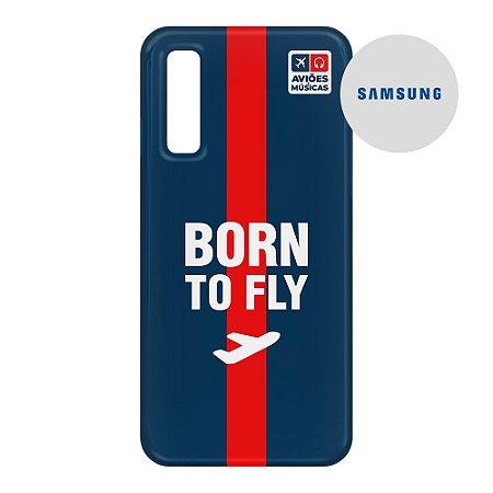 Capa para Smartphone Born To Fly - Samsung - Aviões e Músicas