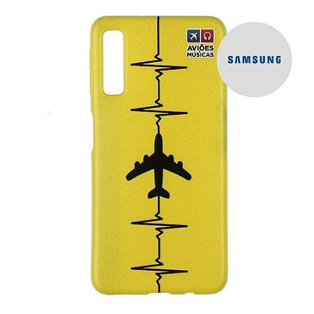 Capa para Smartphone Yellow - Samsung - Aviões e Músicas