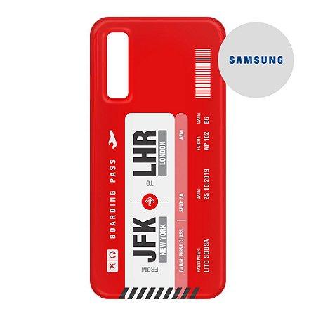 Capa para Smartphone Boarding Pass Personalizável Vermelha - Samsung