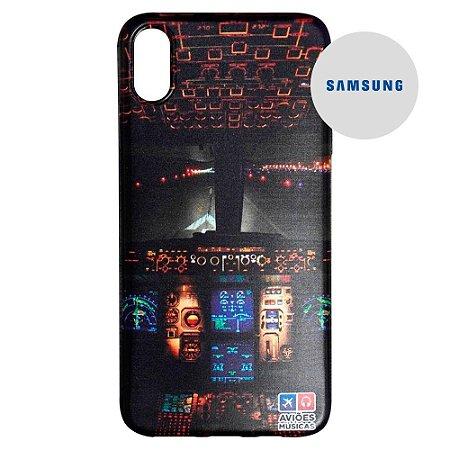 Capa para Smartphone Cabine na Pista - Samsung - Aviões e Músicas