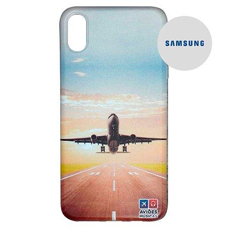 Capa para Smartphone Decolagem - Samsung - Aviões e Músicas