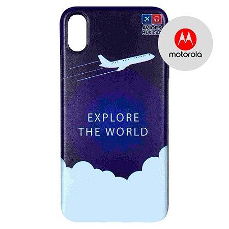 Capa para Smartphone Explore The World - Motorola