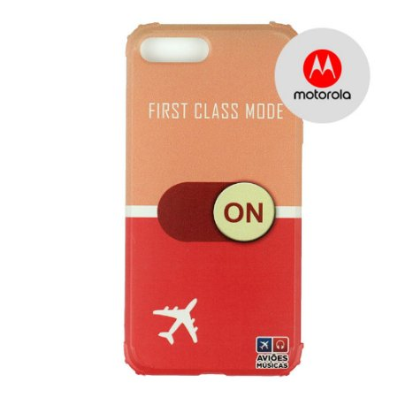 Capa para Smartphone First Class Mode On - Motorola - Aviões e Músicas