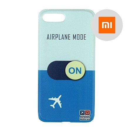 Capa para Smartphone Airplane Mode On - Xiaomi - Aviões e Músicas