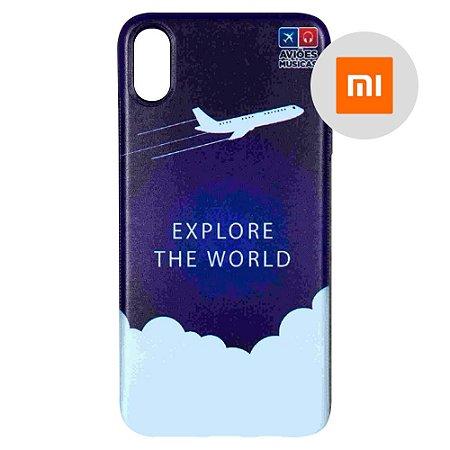 Capa para Smartphone Explore The World - Xiaomi - Aviões e Músicas