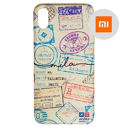 Capa para Smartphone Passaporte Carimbado 1 Personalizável - Xiaomi - Aviões e Músicas