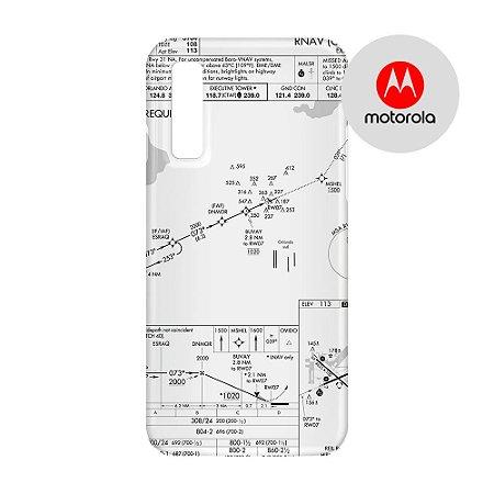 Capa para Smartphone Carta de voo - Motorola - Aviões e Músicas