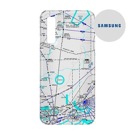 Capa para Smartphone Carta para voo 3 - Samsung - Aviões e Músicas