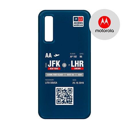 Capa para Smartphone Boarding Pass Personalizável Retro  - Motorola