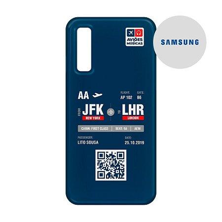 Capa para Smartphone Boarding Pass Personalizável Retro - Samsumg