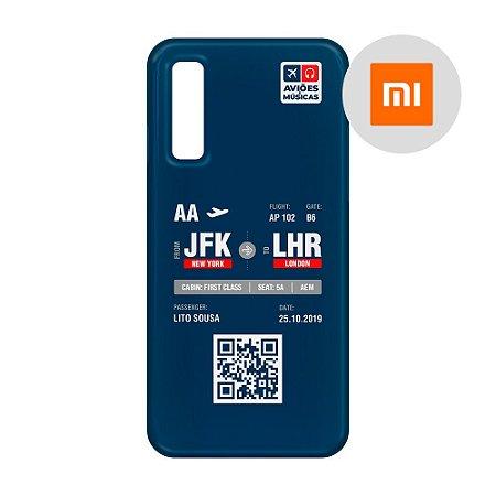Capa para Smartphone Boarding Pass Personalizável Retro - Xiaomi
