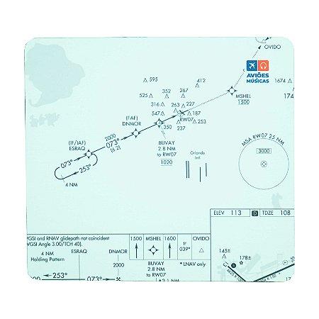 Mouse Pad Carta de voo Aviões e Músicas
