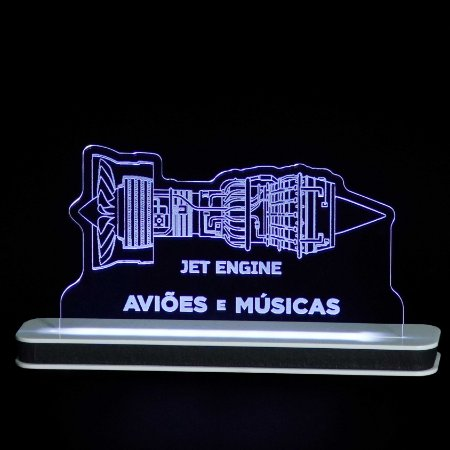 Luminária Motor Turbofan Aviões e Músicas
