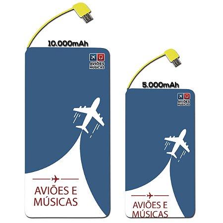 Carregador Portátil Aviões e Músicas