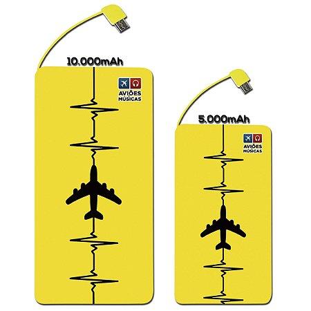 Carregador Portátil  Yellow Aviões e Músicas
