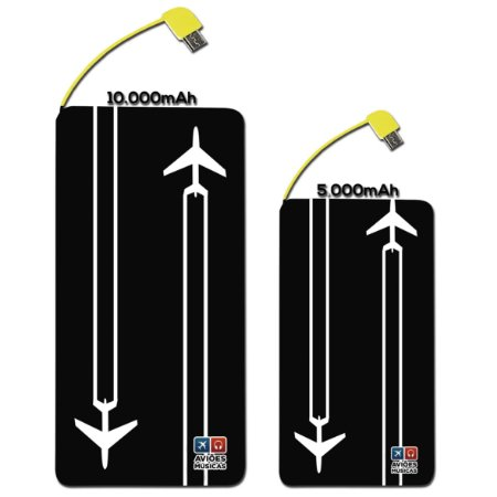 Carregador Portátil  Contrail Aviões e Músicas