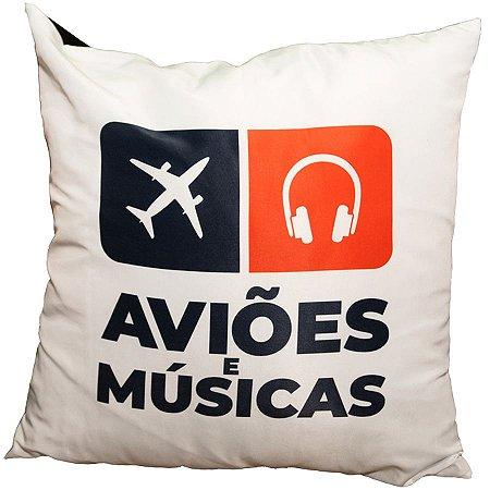 Almofada Clássica AeM Aviões e Músicas
